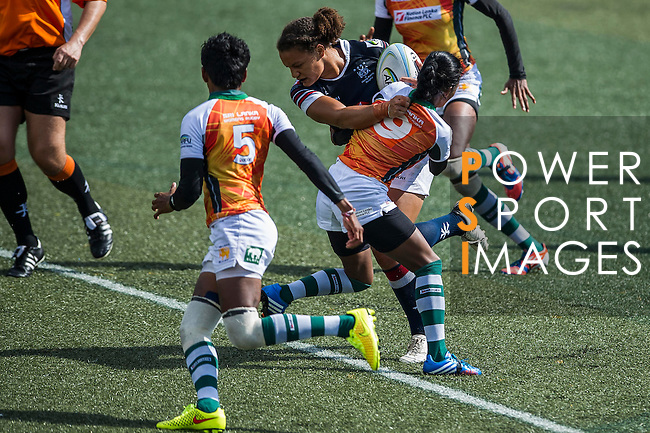 Hong Kong plays Sri Lanka during the ARFU Asian Rugby 7s Round 1 on August 23, 2014 at the Hong Kong Football Club in Hong Kong, China. Photo by Xaume Olleros / Power Sport Images