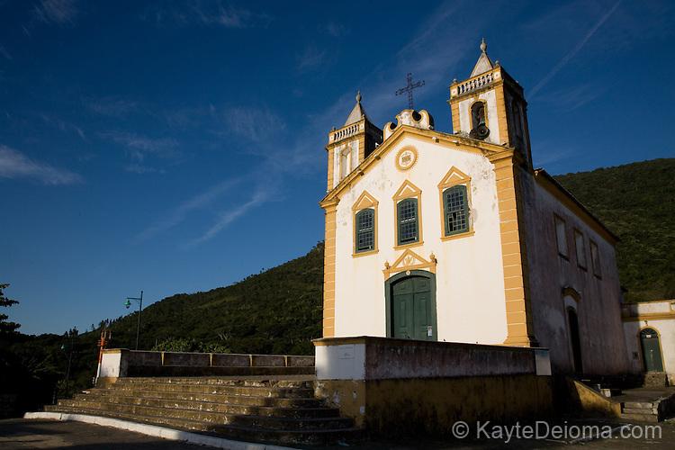 A church in Riberao da Ilha, Santa Catarina, Brazil