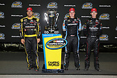 NASCAR Camping World Truck Series<br /> TheHouse.com 225<br /> Chicagoland Speedway, Joliet, IL USA<br /> Friday 15 September 2017<br /> Matt Crafton, Black Label Bacon/Menards Toyota Tundra, Christopher Bell, SiriusXm Toyota Tundra, and Ben Rhodes, Safelite Auto Glass Toyota Tundra<br /> World Copyright: Barry Cantrell<br /> LAT Images