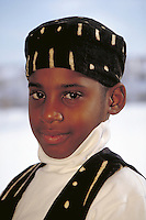 PORTRAIT OF AN AFRICAN-AMERICAN BOY AT KWANZAA CELEBRATION. AFRICAN AMERICAN BOY. NEW BRUNSWICK NEW JERSEY.
