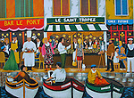 """""""St. Tropez""""<br /> Limited Edition Lithograph Paper 24x30<br /> SN $700<br /> SN w/Original Watercolor Remarque $1,300<br /> EA $900<br /> EA w/Original Watercolor Remarque $1,500"""