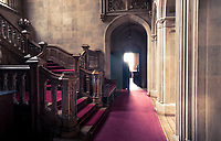 The staircase hall at Highclere Castle