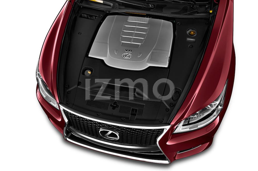 High angle engine detail of a  2013 Lexus LS 460 4dr Rear-Wheel Drive Sedan