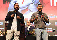 LAS VEGAS - JULY 17: Luis Nery and Juan Carlos Payano attend the final press conference for the PBC on Fox Sports Pay-Per-View at the MGM Grand on July 17, 2019 in Las Vegas, Nevada. (Photo by Frank Micelotta/Fox Sports/PictureGroup)