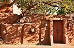 Adobe house in Santa Fe, New Mexico