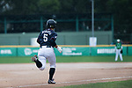 #5 Hiruta Natsuki of Japan runs after bat during the BFA Women's Baseball Asian Cup match between Pakistan and Japan at Sai Tso Wan Recreation Ground on September 4, 2017 in Hong Kong. Photo by Marcio Rodrigo Machado / Power Sport Images