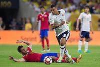 Action photo during the match Colombia vs Costa Rica, Corresponding to  Group -A- of the America Cup Centenary 2016 at NRG Stadium.<br /> <br /> Foto de accion durante el partido Colombia vs Costa Rica, Correspondiente al Grupo -A- de la Copa America Centenario 2016 en el Estadio NRG , en la foto: (i-d) Randall Azofeifa de COsta Rica y Edwin Cardona de Colombia<br /> <br /> <br /> 11/06/2016/MEXSPORT/Jorge Martinez.