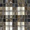 Hamish, a jewel glass mosaic shown in Lavastone, Schist, Quartz, Jasper and Obsidian.