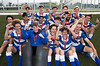 Saint Kentigern College winners - during the Division A Boys Final, between Saint Kentigern College and Kings College, during Upper North Island Secondary School Hockey Championship, North Harbour Hockey, North Shore, Auckland . Friday 9 October 2020 Photo: Brett Phibbs / www.bwmedia.co.nz / Hockey New Zealand