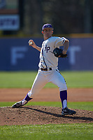 High Point Panthers relief pitcher Rion Murrah (29) in action against the NJIT Highlanders at Williard Stadium on February 19, 2017 in High Point, North Carolina. The Panthers defeated the Highlanders 6-5. (Brian Westerholt/Four Seam Images)