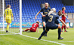 Lizzie Arnot of Manchester United Women scores the goal for Man Utd...cele with Alex Greenwood of Manchester United Women