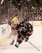 Pat Mullane (BC - 11), Mike Gunn (NU - 6) - The Boston College Eagles defeated the Northeastern University Huskies 6-3 for their fourth consecutive Beanpot championship on Monday, February 11, 2013, at TD Garden in Boston, Massachusetts.