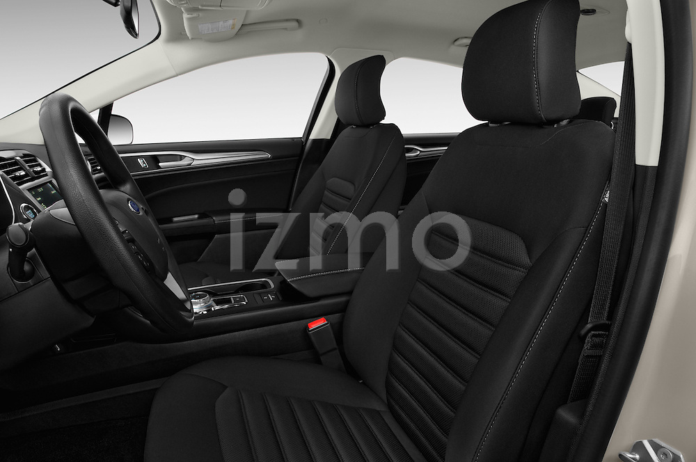 Front seat view of 2017 Ford Fusion-Hybrid Hybrid-SE 4 Door Sedan Front Seat  car photos