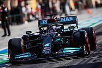 27th March 2021; Sakhir, Bahrain; F1 Grand Prix of Bahrain, Qualifying sessions;  HAMILTON Lewis (gbr), Mercedes AMG F1 GP W12 E Performance during Formula 1 Gulf Air Bahrain Grand Prix 2021 from March 26 to 28, 2021 on the Bahrain International Circuit, in Sakhir, Bahrain