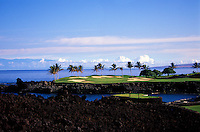 Maunalani golf course overlooking the ocean found on the Big Island of Hawaii