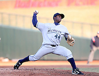 April 4, 2008:  West Michigan Whitecaps starting pitcher Alfredo Figaro (44) makes a pitch against the South Bend SilverHawks at Coveleski Stadium in South Bend, IN.  Photo by: Chris Proctor/Four Seam Images