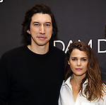 Adam Driver and Keri Russell attend the 'Burn This' cast photo call at the New 42nd Street Studios on March 7, 2019 in New York City.