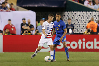 PHILADELPHIA, PENNSYLVANIA - JUNE 30: Christian Pulisic #10, Jurien Gaari #13 during the 2019 CONCACAF Gold Cup quarterfinal match between the United States and Curacao at Lincoln Financial Field on June 30, 2019 in Philadelphia, Pennsylvania.