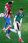 Atletico de Madrid's Jose Maria Gimenez (l) and Club Atletico Osasuna's Alex Berenguer during La Liga match. April 15,2017. (ALTERPHOTOS/Acero)