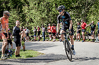 Michael Storer (AUS/DSM) up the Alpe di Mera finish climb<br /> <br /> 104th Giro d'Italia 2021 (2.UWT)<br /> Stage 19 from Abbiategrasso to Alpe di Mera (Valsesia)(176km)<br /> <br /> ©kramon