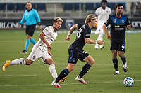 SAN JOSE, CA - SEPTEMBER 05: Florian Jungwirth #23 during a game between Colorado Rapids and San Jose Earthquakes at Earthquakes Stadium on September 05, 2020 in San Jose, California.
