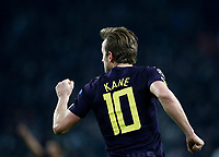 Football Soccer: UEFA Champions League Juventus vs Tottenahm Hotspurs FC Round of 16 1st leg, Allianz Stadium. Turin, Italy, February 13, 2018. <br /> Tottenham's Harry Kane celebrates after scoring during the Uefa Champions League football soccer match between Juventus and Tottenahm Hotspurs FC at Allianz Stadium in Turin, February 13, 2018.<br /> UPDATE IMAGES PRESS/Isabella Bonotto