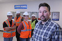 Dan Stuart, Branch Manager Alaska for Labor Ready, and local clients for his workforce