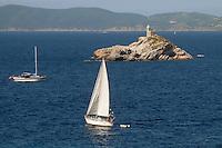 """- Portoferraio (island of Elba),  lighthouse of the """"Scoglietto""""....- Portoferraio (isola d'Elba), faro dello """"Scoglietto"""