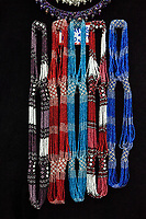 Antigua, Guatemala.  Maya Bead Necklaces, Nim Po't Handicrafts Outlet.