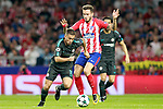 Atletico de Madrid's Saul Niguez (r) and Chelsea FC's Eden Hazard during Champions League 2017/2018, Group C, match 2. September 27,2017. (ALTERPHOTOS/Acero)