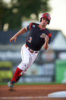 Batavia Muckdogs right fielder Walker Olis (3) running the bases during a game against the Williamsport Crosscutters on September 2, 2016 at Dwyer Stadium in Batavia, New York.  Williamsport defeated Batavia 9-1. (Mike Janes/Four Seam Images)
