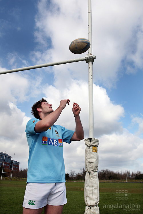 Conor McInerney, Rugby player. Sports Scholarships at UCD.Pic Angela Halpin