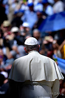 Pope Francis during of a weekly general audience at St Peter's square in Vatican.April 25, 2018