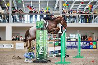 NZL-Briar Burnett-Grant rides Fiber Fresh Veraona. Final-3rd. Class 29: Fiber Fresh Horse 1.40m-1.45m 10K - FINAL. 2021 NZL-Easter Jumping Festival presented by McIntosh Global Equestrian and Equestrian Entries. NEC Taupo. Sunday 4 April. Copyright Photo: Libby Law Photography