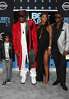 LOS ANGELES, CA June 25- Bobby Brown,wife Alicia Etheredge and sons Cassius Brown and Bobby Brown Jr. At 2017 BET Awards at The Microsoft Theater, California on June 25, 2017. Credit: Faye Sadou/MediaPunch