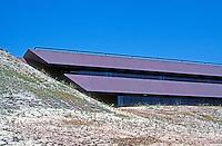Thousand Oaks CA: Prudential Life, 1982. Brown North Dakota granite in three 11 1/2 ft. bands.