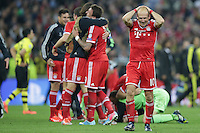 25.05.2013, Wembley Stadion, London, ENG, UEFA Champions League, FC Bayern Muenchen vs Borussia Dortmund, Finale, im Bild Arjen ROBBEN (FC Bayern Muenchen - 10) kann es nicht fassen nach dem Sieg im Champions League Finale mit 2-1 gegen Borussia Dortmund // during the UEFA Champions League final match between FC Bayern Munich and Borussia Dortmund at the Wembley Stadion, London, United Kingdom on 2013/05/25. EXPA Pictures © 2013, PhotoCredit: EXPA/ Eibner/ Gerry Schmit<br /> <br /> ***** ATTENTION - OUT OF GER ***** <br /> 25/5/2013 Wembley<br /> Football 2012/2013 Champions League<br /> Finale <br /> Borussia Dortmund Vs Bayern Monaco <br /> Foto Insidefoto
