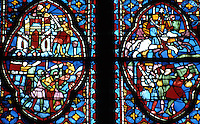 Paris: Sainte-Chapelle. 13th C. stained glass windows. Photo '87.