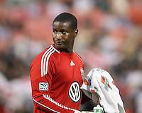 Bill Hamid #28 of D.C.United during an MLS match against the Kansas City Wizards at RFK Stadium on May 5 2010, in Washington DC. United won 2-1