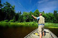 Flyfishing, Lake Wantastiquet, Vermont