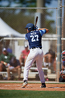 Jordan Beck during the WWBA World Championship at the Roger Dean Complex on October 18, 2018 in Jupiter, Florida.  Jordan Beck is an outfielder from Hazel Green, Alabama who attends Hazel Green High School and is committed to Tennessee.  (Mike Janes/Four Seam Images)