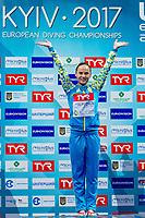 Anna PYSMENSKA UKR Gold medal<br /> 3m. springboard women <br /> LEN European Diving Championships 2017<br /> Sport Center LIKO, Kiev UKR<br /> Jun 12 - 18, 2017<br /> Day04 15-06-2017<br /> Photo © Giorgio Scala/Deepbluemedia/Insidefoto
