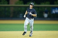 Stuart Fairchild (4) of the Wake Forest Demon Deacons rounds the bases after hitting a 2-run home run against the West Virginia Mountaineers in Game Six of the Winston-Salem Regional in the 2017 College World Series at David F. Couch Ballpark on June 4, 2017 in Winston-Salem, North Carolina.  The Demon Deacons defeated the Mountaineers 12-8.  (Brian Westerholt/Four Seam Images)