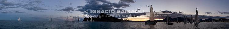 Salida de la Regata. XXIII Edición de la Regata de Invierno 200 millas a 2 - 6 al 8 de Marzo de 2009, Club Náutico de Altea, Altea, Alicante, España