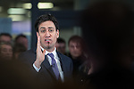 © Joel Goodman - 07973 332324 . 31/01/2014 . Manchester , UK . Leader of the Labour Party , ED MILIBAND , delivers a speech and Q&A at Wythenshawe Forum this afternoon (31st January 2014) as the party continues to campaign for Mike Kane in the upcoming Wythenshawe and Sale East by-election , following the death of Paul Goggins . Photo credit : Joel Goodman