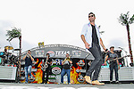 Music artist Jake Owen in action before the NASCAR AAA Texas 500 race at Texas Motor Speedway in Fort Worth,Texas.