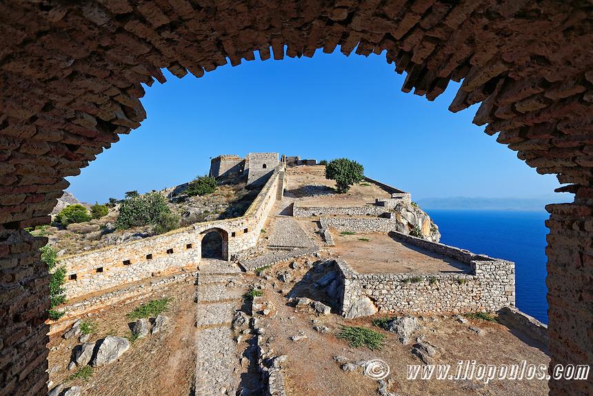 The castle Palamidi of Nafplio, Greece