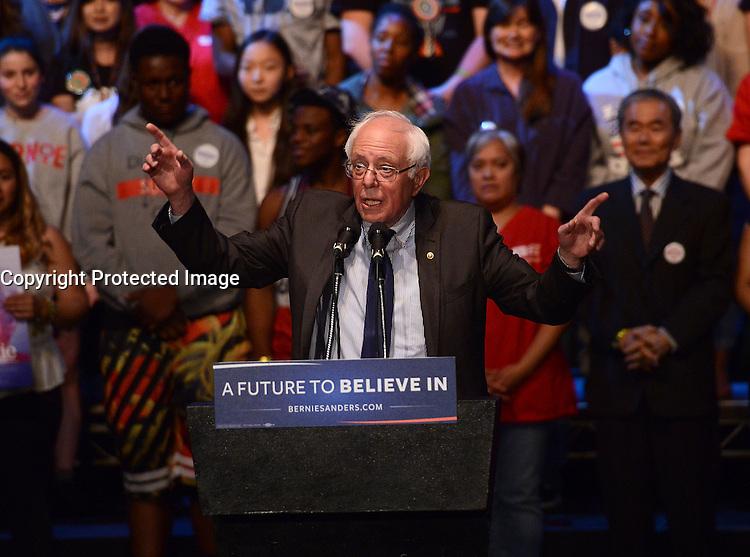 Bernie Sanders @ the 'Future to Believe in' Los Angeles held @ the Wiltern.<br /> March 23, 2016