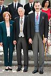 "Eduardo Mendoza Garriga and King Felipe VI during award ceremony of literature in Spanish ""Miguel de Cervantes"" at University of Alcala de Henares in Madrid., April 20, 2017. Spain.<br /> (ALTERPHOTOS/BorjaB.Hojas)"