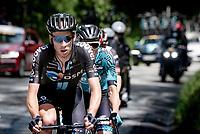 Martijn Tusveld (NED/DSM) up the climb towards La Plagne (HC/2072m/17.1km@7.5%) <br /> <br /> 73rd Critérium du Dauphiné 2021 (2.UWT)<br /> Stage 7 from Saint-Martin-le-Vinoux to La Plagne (171km)<br /> <br /> ©kramon
